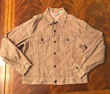 Vintage Levi's Made in USA Corduroy Sand Tan Trucker Jacket, size Medium