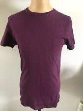 PRIMARK SLIM FIT PURPLE PLUM T SHIRT TEE TOP SIZE S SMALL MENS - FAB CONDITION
