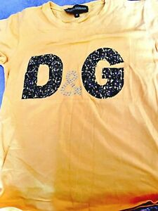 Dolce & Gabbana Designer T-Shirt Top Size M Ladies