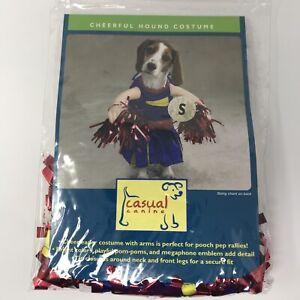 Casual Canine Halloween Dog Costume Cheerful Hound Cheerleader Blue Red Sz S