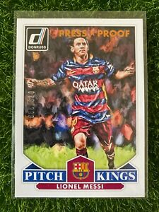 2015 Donruss Soccer LIONEL MESSI Press Proof /299 Pitch Kings