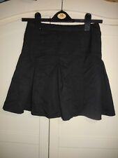 NEXT Girl's School Pleated Skirt Age 11 Black Knee Length