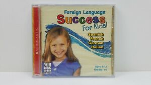 Foreign Language Success for Kids Ages 6-12 (CD, 2008) Win/Mac - NEW SEALED