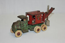 Antique Hubley Cast Iron General Digger Steam Shovel Truck Original VG L@@K