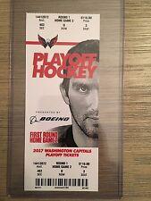 NHL Washington Capitals Mint Ticket Stub vs Toronto Maple Leafs 4/15/2017 GAME 2