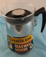Percolator Maxwell House Coffee Crystal Clear Glass Vintage Coffeemaker