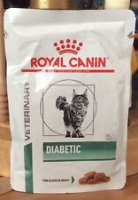 NEW ROYAL CANIN VETERINARY DIABETIC THIN SLICES IN GRAVY WET FOOD POUCH 4 x 85g