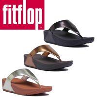 Fitflop Lulu Mirror Women Black Mirror Toe Thong Sandals Size 3 - 8