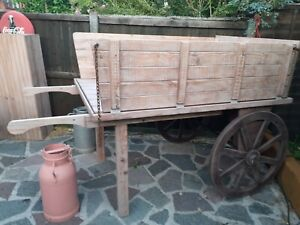 Traditional Market Traders Barrow/ Cart With Spoked Wheels Good For Display