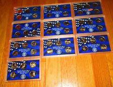 50 Proof Quarters 1999 2000 01 02 03 04 05 06 07 2008 US Mint Plastic No Box/Coa