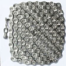 Selcof 9 Speed Silver Chain Includes Quicklink 112 Links