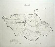 BODMIN,CORNWALL, ENGLAND, Street Plan, Dawson Original antique map 1832