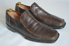 "OLIVER SWEENEY ""POITIER"" DARK BROWN LEATHER LOAFERS - UK 10 / EUR 44 / USA 11"