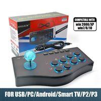 Joystick d'arcade PC Console PS2/PS3 pour Android Smart TV avec câble +manette