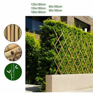 Rankzaun Bambus Rankgitter Ausziehbar Natur Rankhilfe Spalier in vielen Größen