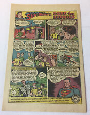 1950 SUPERMAN cartoon PSA ad page ~ Defeat Anti-Semitism