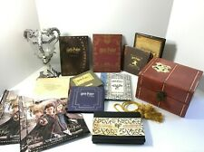 Harry Potter Lot: Dvd Boxed Set w/ Bookmark Collection In Trunk + Triwizard Cup