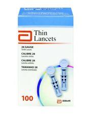 Abbott Thin Lancets 100 28 Gauge