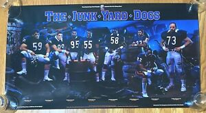 Chicago Bears The Junkyard Dogs Vintage Poster Super Bowl Champions 36x20 Chevy