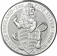 Großbritannien 2016 Der Löwe von England Silbermünze 5 Pfund Queen's Beasts