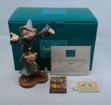 WDCC Snow White and the Seven Dwarfs - DANCING PARTNERS Dopey Sneezy MIB w/ COA