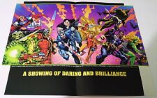Daring and Brilliance Comic Poster Wizard Magazine Vtg  90's Breed Nocturnals