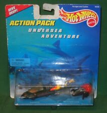 1996 Hot Wheels 3 Piece Undersea Adventure Action Pack Mattel Submarine Unopened