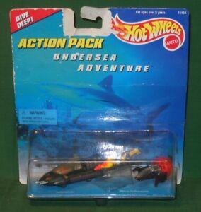 1996 Hot Wheels 3 Piece Undersea Adventure Action Pack Mattel Submarine Unopened