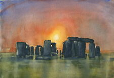Stonehenge - Hand Signed, Titled and Mounted Print with COA