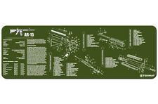 "AR-15 M-16 M4 Rifle TekMat Gun Cleaning Mat 12""x36"" Parts Diagram Olive Drab"