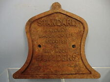 VINTAGE CAST IRON   PRIVATE MAKERS STANDARD RAILWAY Co Ltd  WAGON  PLATE