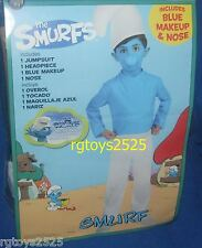 The Smurfs SMURF Costume New Size Small 4-6 Boys Blue Child
