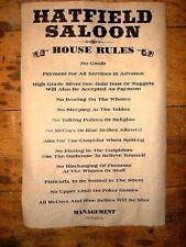 "(165) OLD WEST SALOON HATFIELD HOUSE RULES McCOY BAR BILLIARD ROOM POSTER 11x17"""