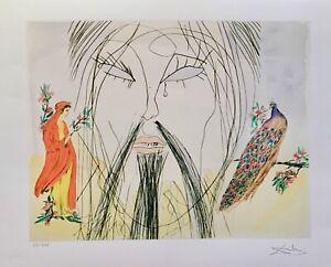"Salvador Dali CONFUCIUS Facsimile Signed & Numbered Giclee Art 13"" x 17"""