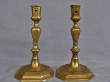Paire de Bougeoirs d'Epoque Louis XIV en Bronze Doré du XVIIème Siècle