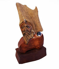 Giver of Light Original US Artist Rick Cain Wise Old Man Elder Spirit Sculpture