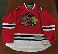 Brand New Authentic Reebok Chicago Blackhawks Jerseys Men's L Great Gift