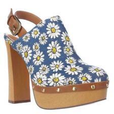 Report Mylie Blue Floral Slingback Platform Clogs Size 8