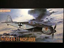 DRAGON 1/48 Fw190A-8/R-11 Nachtjager Plastic Model Kit MIB #5514
