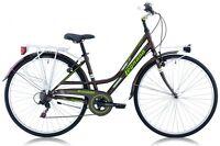 "Bicicletta CITY BIKE 28"" LEGNANO VERSILIA L481 SHIMANO 6V DONNA ACCIAIO MARRONE"