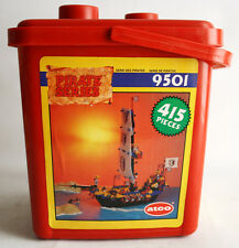 VERY RARE VINTAGE 1988 ATCO PIRATE SHIP 9501 BUILDING BRICKS 415 PCS NEW MISB !