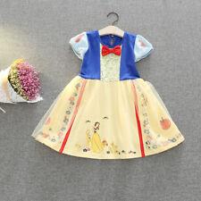 Kid Girl Princess Snow White Sofia Belle Alice In Wonderland Fancy Dress Costume