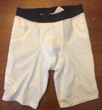 NIKE Pro Combat Compression Training Base Layer Shorts SM White 586907-100 White