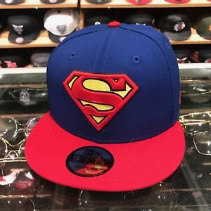 New Era Superman Snapback Hat Cap Royal/Red/Yellow dc comics