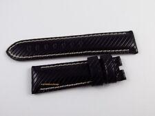 New Panerai 22mm Black Riva Rivetta Leather Strap OEM