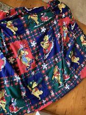 Winne the Pooh Winter Flannel Twin Fitted Sheet