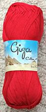 King Cole Giza Cotton 4 Ply 2202 Red