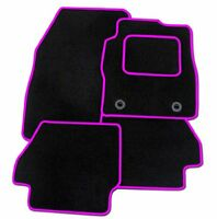 VAUXHALL MERIVA 2011+ TAILORED CAR FLOOR MATS BLACK CARPET WITH PINK TRIM