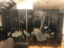 Wooden Room Divider Screen 8 Panels Vintage Oriental Style Chicago