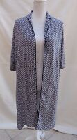 Atmosphere monochrome long open layering summer coat/tunic top Label S Size 8 ?